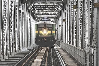 Architectural photography of traveling train