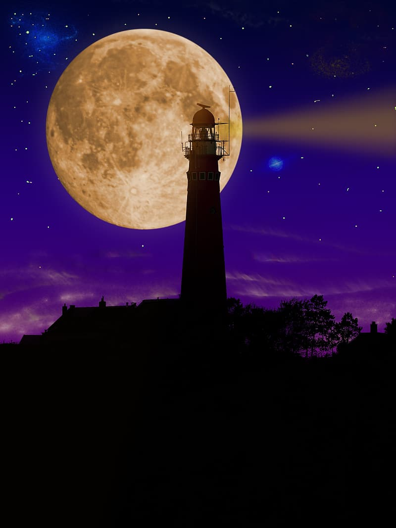 Lighthouse during nightime