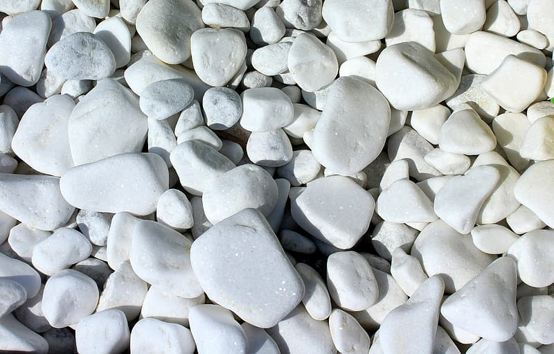 Close-up photography of white stone lot