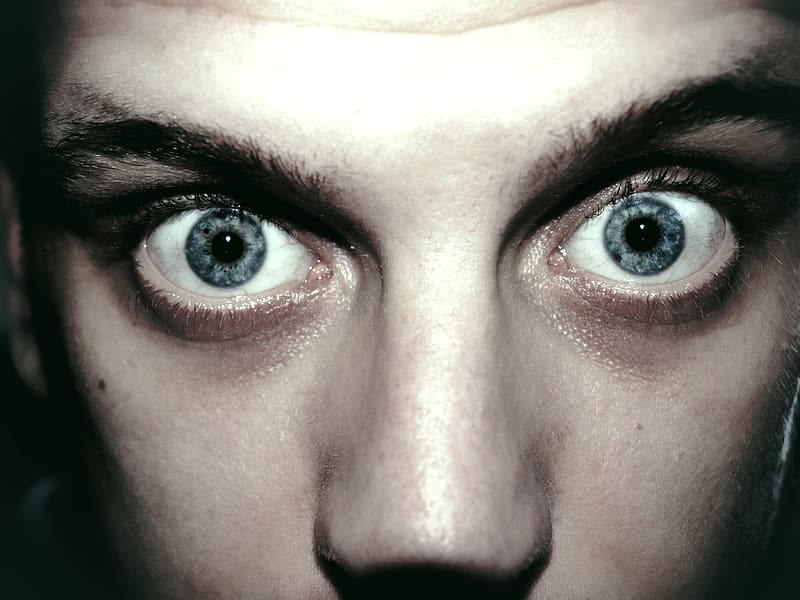 Close-up photo of person's pair of blue eyes