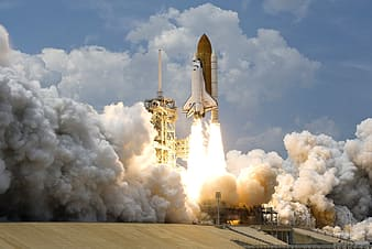 Space shuttle about to land photo