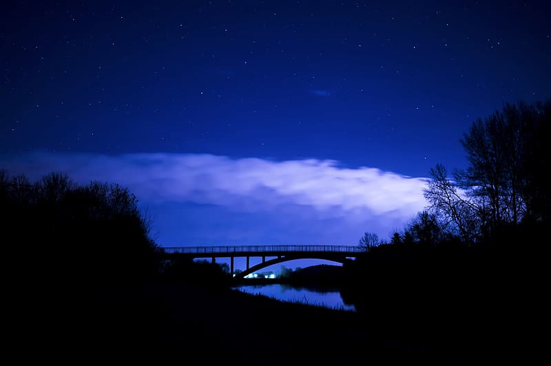 Bridge during nighttime