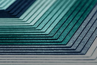 Green and black striped textile