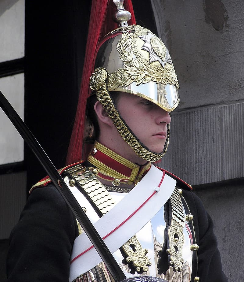 Photo of royal guard in armor set