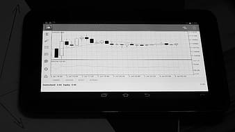 Turned-on black tablet computer screen