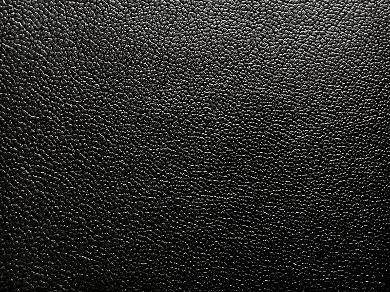 Black leather textile