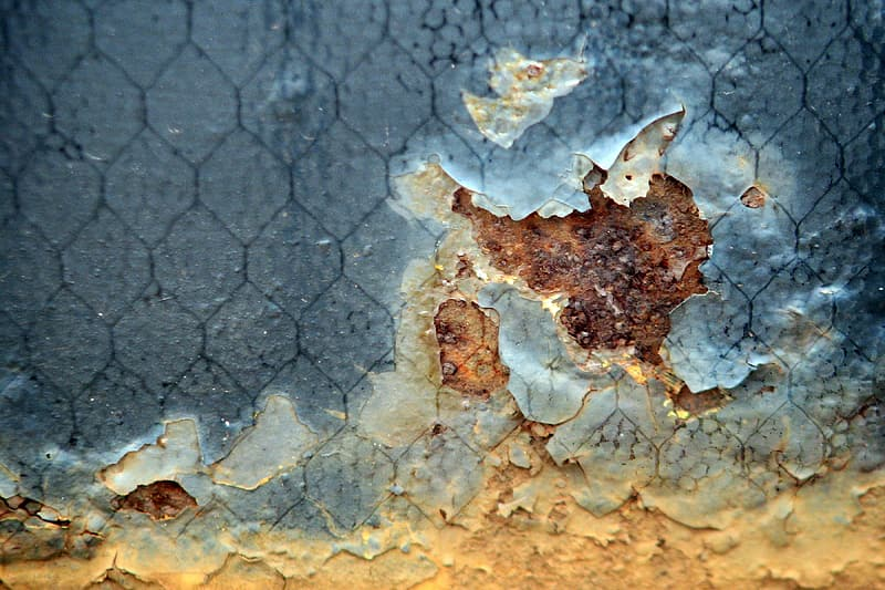Rusted paint close up photo