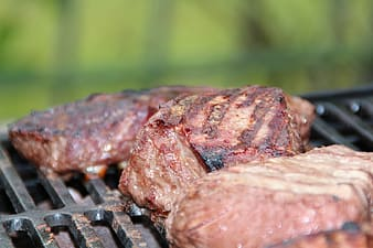 Close up photo of grilled meat