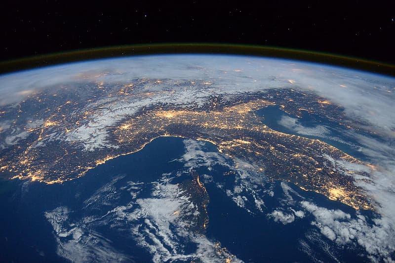 Aerial photography of earth