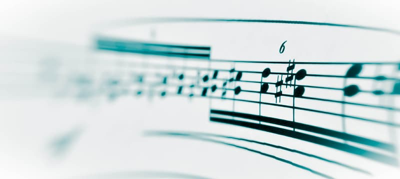 Selective focus photography of music notes