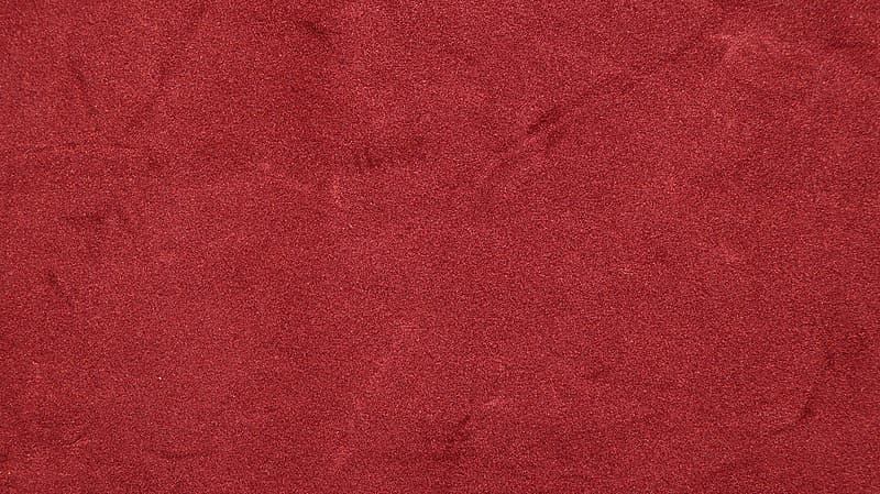 Red textile with white hair