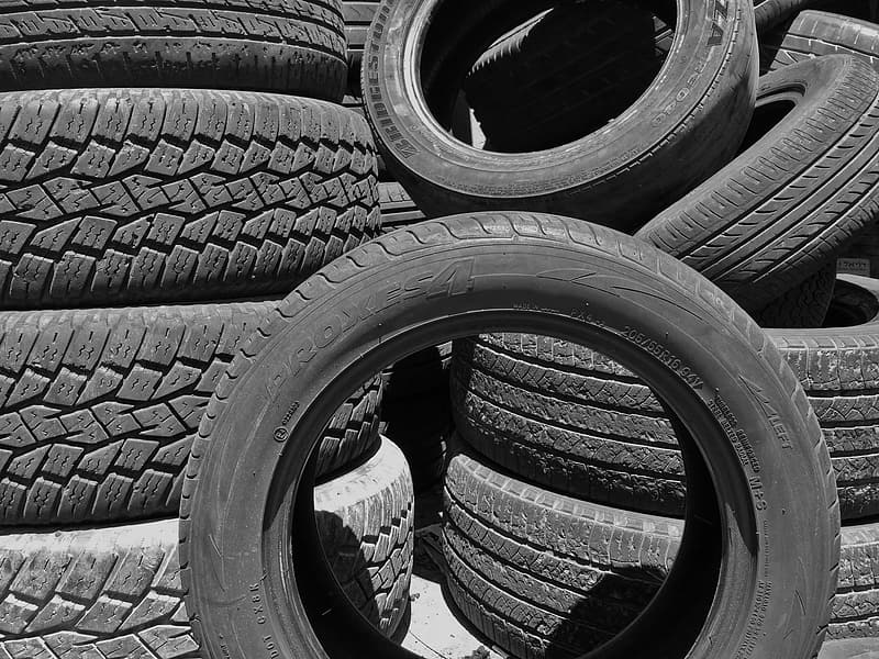 View of automotive tires