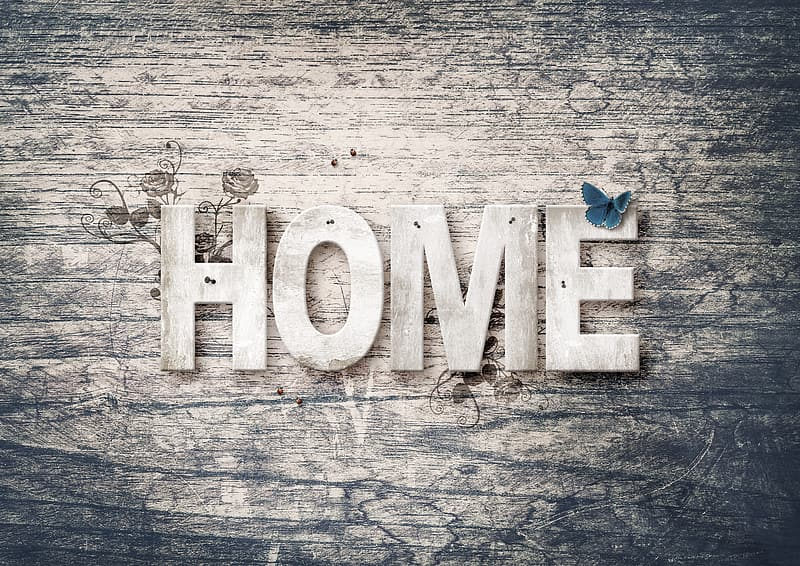 Home wooden signage decor