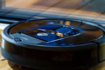 Black and blue vinyl record player