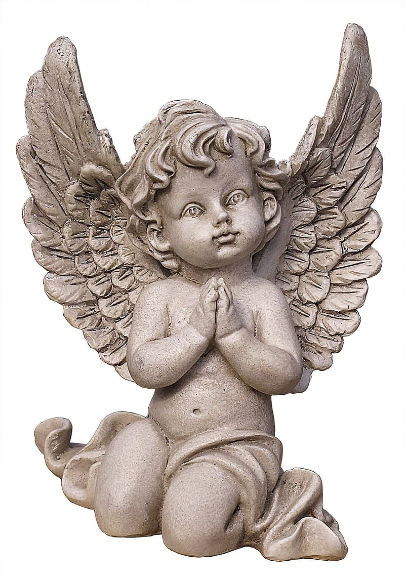 Boy angel concrete statue