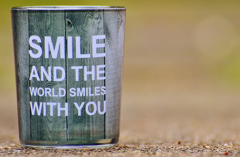 Green and gray smile and the world smiles with you painting