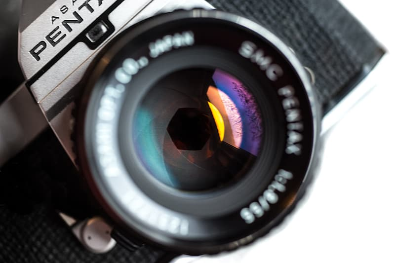 Vintage camera and lens