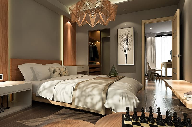 Interior shot of a house or apartment bedroom