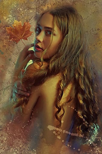 Edited photo of woman with blonde hair