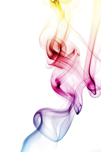 Red, blue, and purple smoke illustration