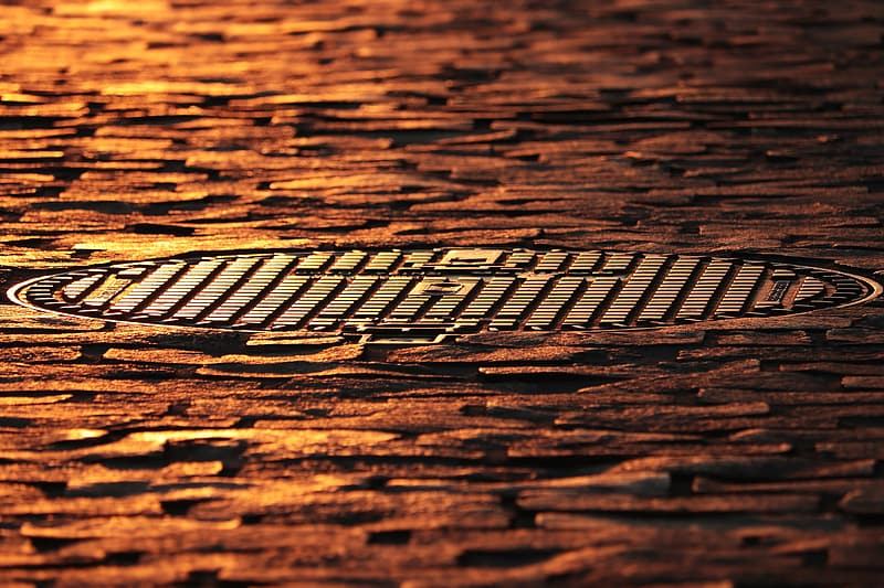 Brown wooden surface with black and white lines