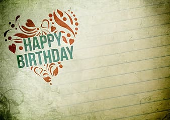 Happy Birthday inline printed paper