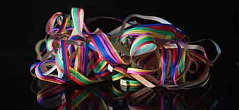 Assorted-color ribbons