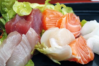 Fresh fish meat with vegetable