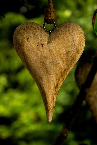 Brown heart accessory