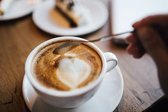 Cup of coffee in coffee shop