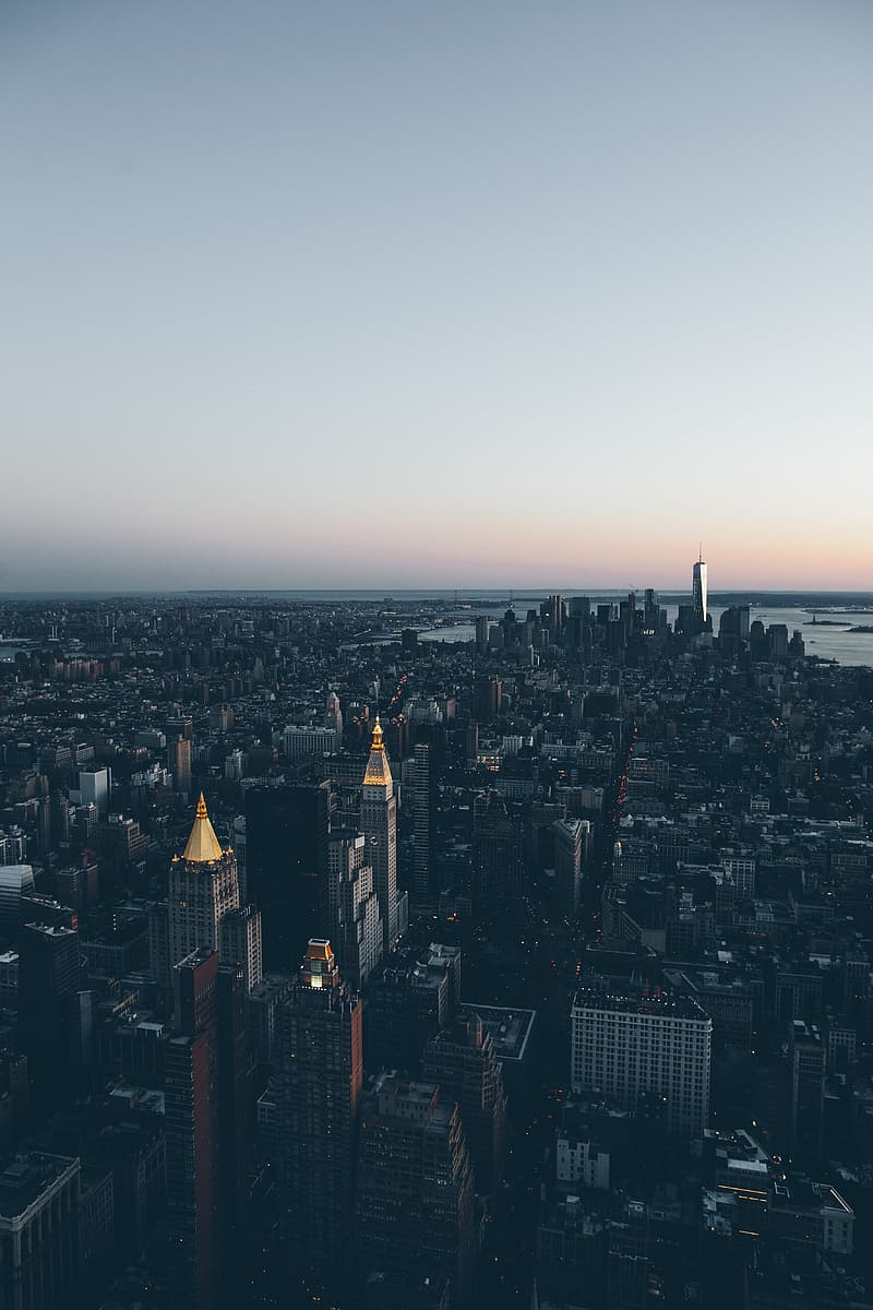 Aerial photo of Manhattan New York during day time