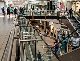 Group of people inside mall