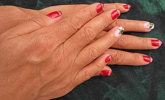 Person showing her nail polish