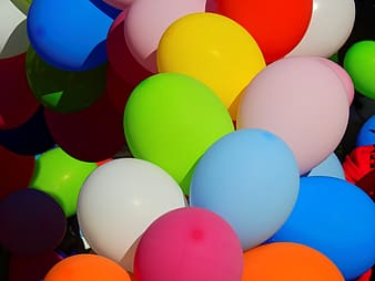 Assorted-color balloon lot