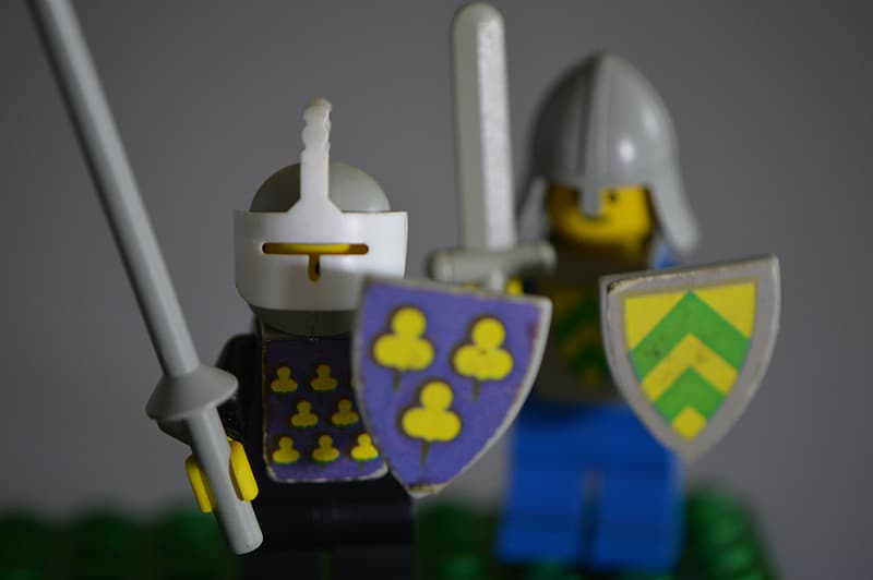 Lego Knight action figures