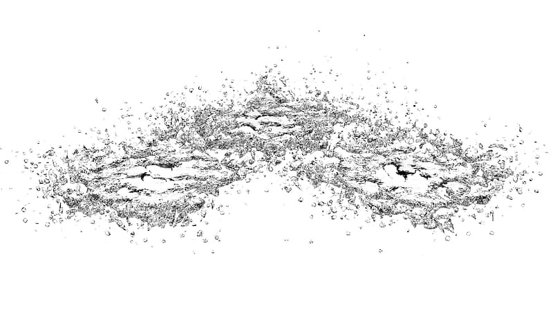 Water splash in grayscale photography