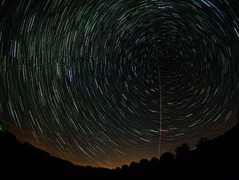 Time lapse photography of stars during night time