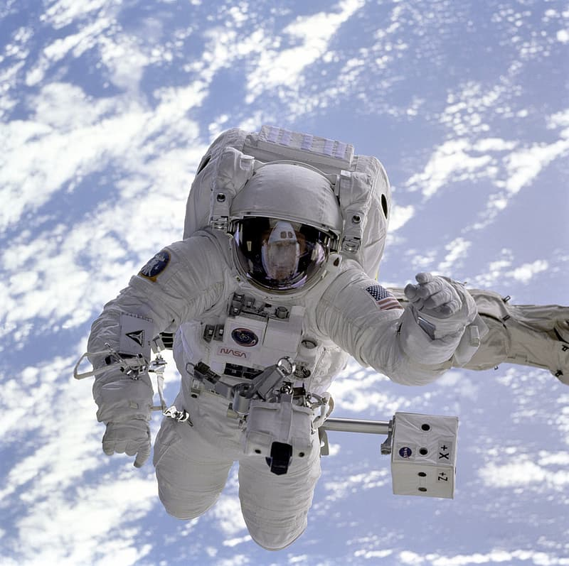 Astronaut wearing NASA suit
