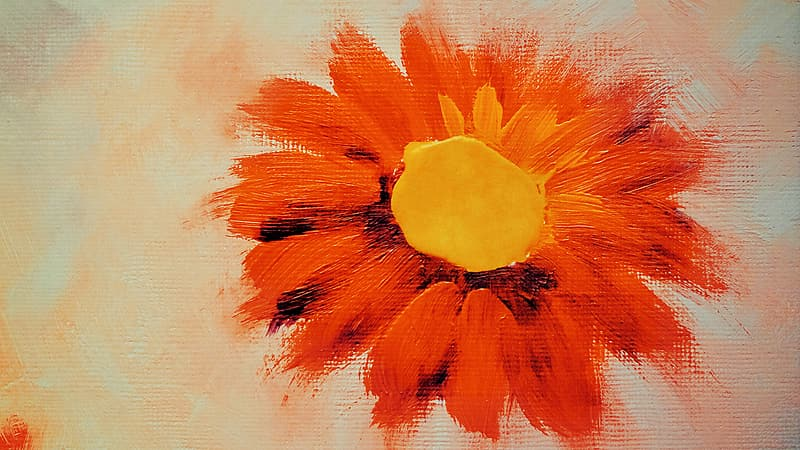 Orange and yellow flower painting