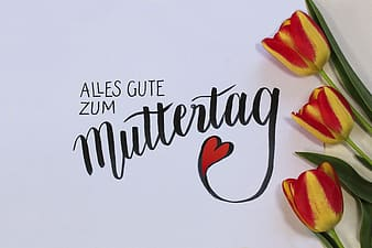 Muttertag text overlay