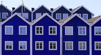 Photography of blue and white painted villages