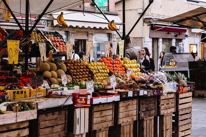 Fruit stand on the market