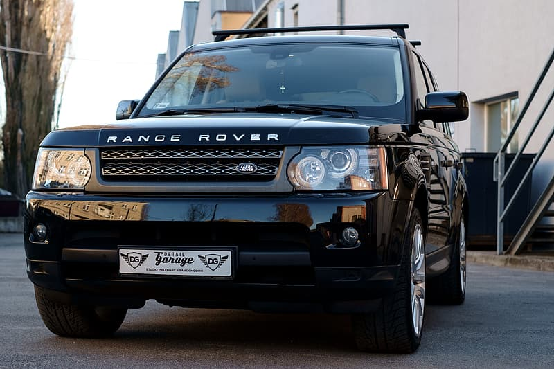 Blue and black land rover range rover
