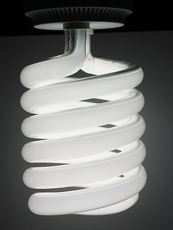 Turned-on CFL bulb