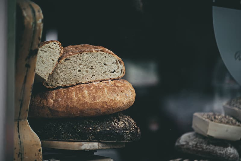Close-up photography of baked bread
