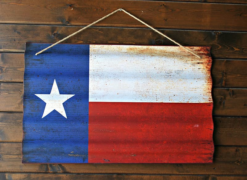 Flag of Chile wall decor hanged on brown wall