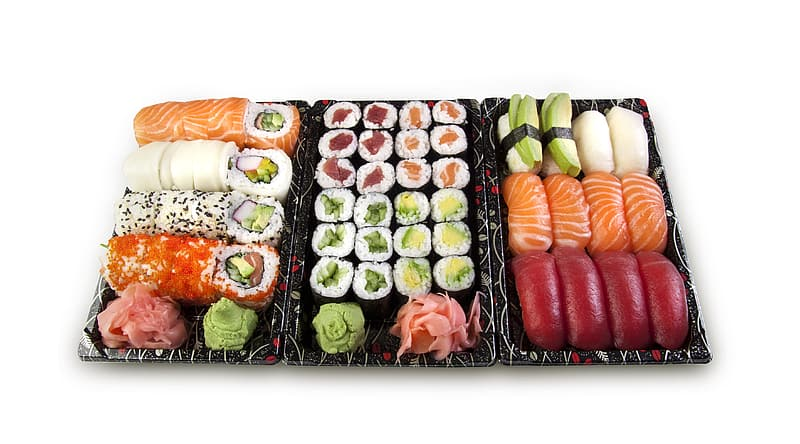 Japanese food in tray