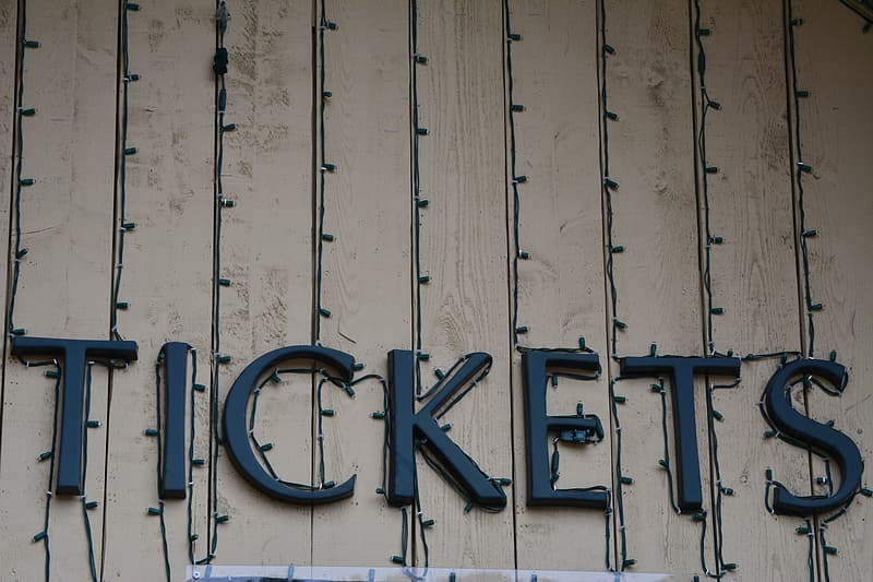 Tickets letter mounted in wall