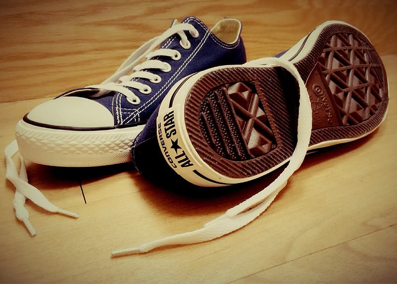 Black and white converse all star low top sneakers