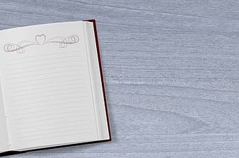 Photography of empty notebook